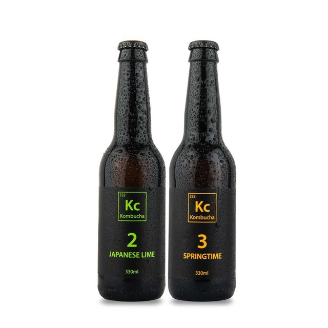 Kc2 Japanese Lime & Kc3 Springtime Kombucha Mixed 12 Pack Subscription